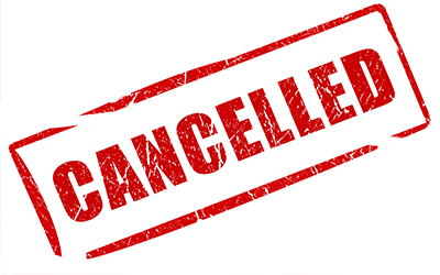 An image of the word cancelled