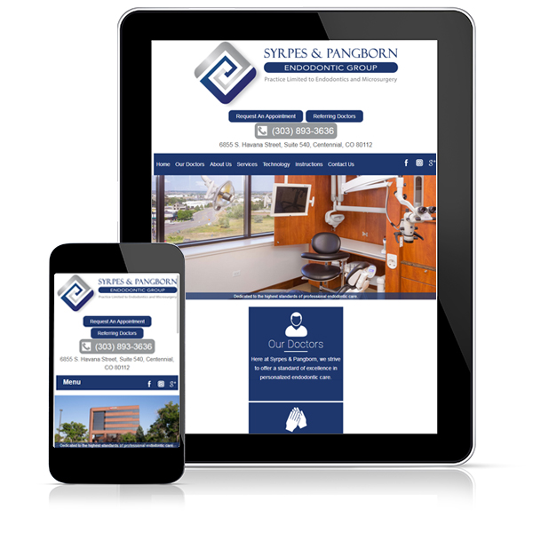 Resppnsive dental website set in mobile devices