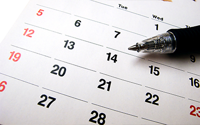 An image of a calendar month